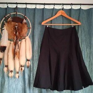 Semi-Long Black Skirt